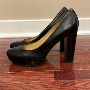 Coach Leather Platform Pumps